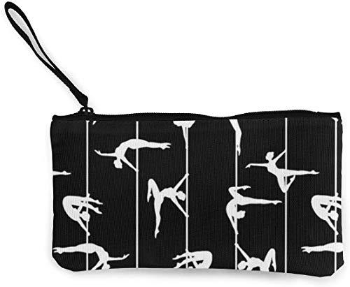 naotaori Pole Dancer Art Pattern Monedero de Lona para Mujer Mini Change Wallet Pouch-Card Holder Phone Wallet Storage Bag Pencil Pen Case Casual Daypacks'