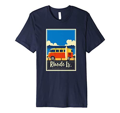Rhode Island Surfing Narragansett Beach Van Life Surf Gift Premium T-Shirt
