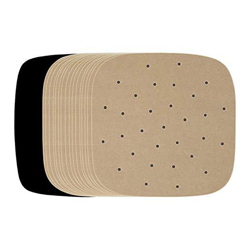 R&P 1000 Blatt Dampfpapier Backpapier Antihaftpapier für Papier Backbleche Tortilla-Presse Luftfritteuse,Wood Color,25.5 * 25.5 cm