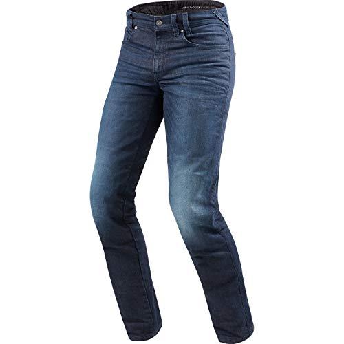 REV'IT! Motorrad Jeans Motorradhose Motorradjeans Vendome 2 RF Jeanshose dunkelblau Used 34/34, Herren, Chopper/Cruiser, Sommer, Textil