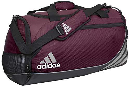 adidas Team Speed - Bolsa de Deporte (tamaño Mediano), Color Granate Claro/Negro, tamaño M