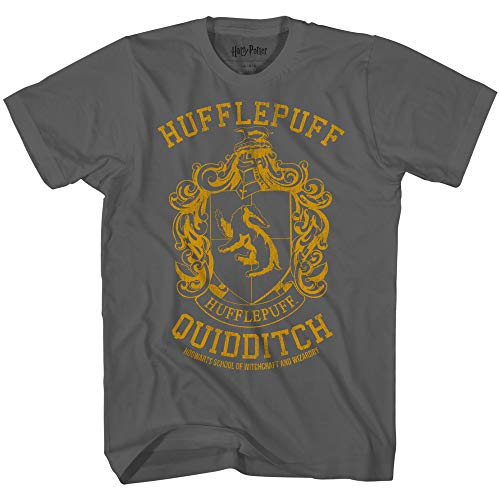 Harry Potter Gryffindor Slytherin Ravenclaw Hufflepuff Quidditch Team Boys Youth T-Shirt(Hufflepuff,12/14)