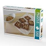 CALVENDO Puzzle Selbst gemachte Schokolade mit Mandelkrokant 1000 Teile Lege-Größe 64 x 48 cm...