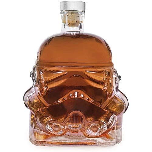 XBR Jarras Creativas de la Jarra, Jarra de Whisky de la Botella, Jarra de Whisky Creativa Transparente 650ML