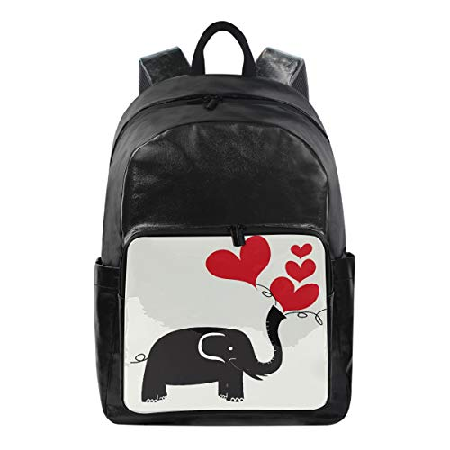 ALarge Sac à dos pour la Saint-Valentin Abstrait Animal Elephant Multi Fonction Business Bag School College Toile Book Bag Voyage Randonnée Camping Sac à dos Sac à dos