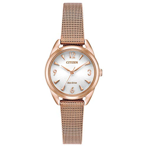 Citizen Women's Drive Quartz Stainless Steel Strap, Rose Gold, 12 Casual Watch (Model: EM0683-55A)