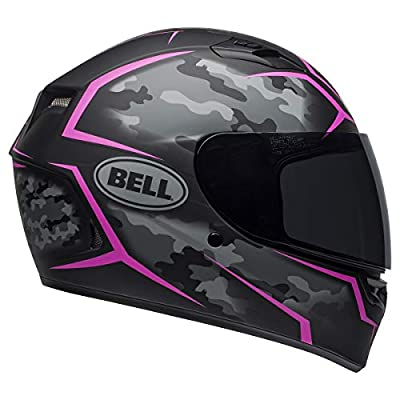 Bell Qualifier Full-Face Motorcycle Helmet (Stealth Camo Matte Black/Pink, X-Large)