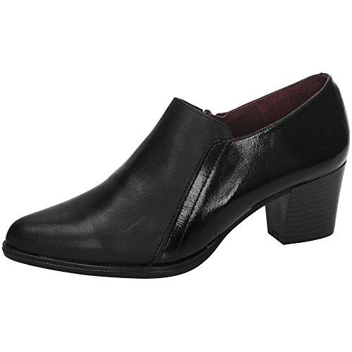 DLIRO 6350 Zapato Piel ABRIGADO Mujer Zapatos TACÓN Negro 36