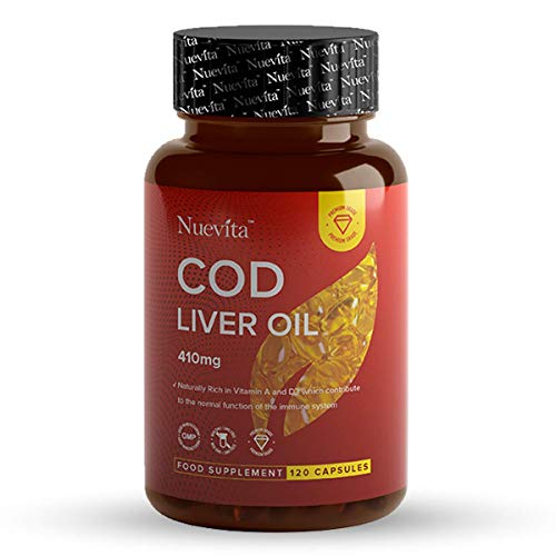 Cod Liver Oil High in Omega 3, Vitamins A & D One a Day 120 Capsules