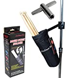 Vizcaya DSH10 Drum Stick Holder Drum Stick Bag with Drum Key (Black)