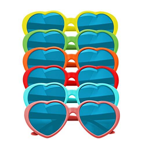 KiraKira Gafas de Sol de Fiesta Gafas de Sol en Forma de corazón Gafas...