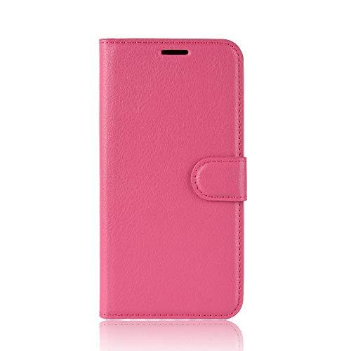 Tasche für Asus ZenFone 3 (5.2zoll) ZE520KL Hülle, Ycloud PU Ledertasche Flip Cover Wallet Hülle Handyhülle mit Stand Function Credit Card Slots Bookstyle Purse Design Rose Red