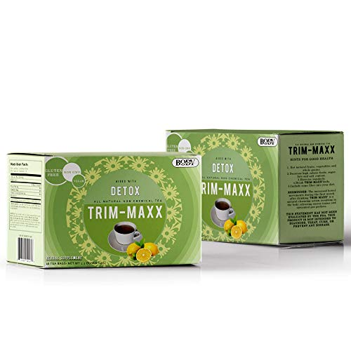 Trim Maxx Weight Loss Tea - Herbal Weight Loss and Detox Tea For Natural Constipation, Stomach Tea Made with Senna Leaves, NON-GMO, Caffeine Free, Gluten-Free - Lemon Flavor (2 Pack- 32 Bags)
