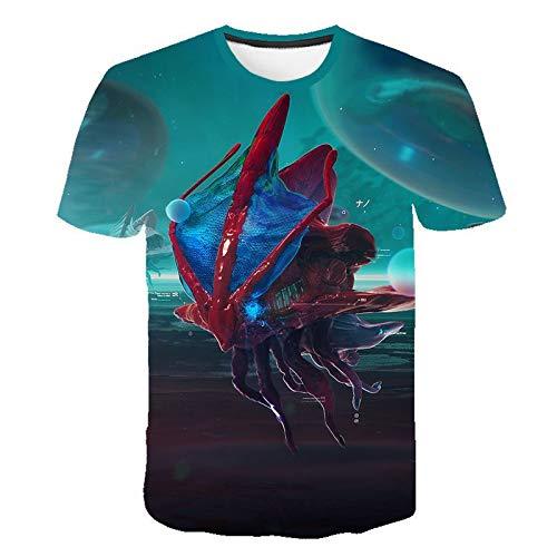 Preisvergleich Produktbild YDXH Kurzarm-T-Shirt Loser-Runde Neck Shirt Corona T-Shirt Männer Hemd grundiert, 1, S