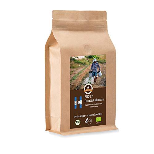 Kaffee Globetrotter - Bio Honduras Genuine Marcala - 500 g Grob Gemahlen - für Stempel-kanne French-Press Kaffeebereiter - Spitzenkaffee - Röstkaffee aus biologischem Anbau