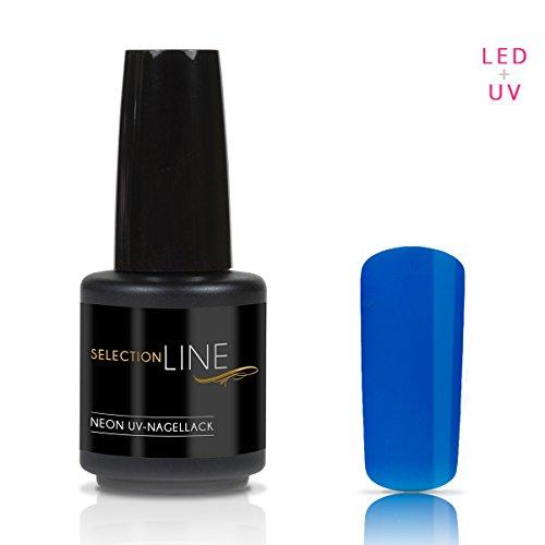 N&BF Selection Line Vernis à ongles gel UV LED Bleu 15 ml Vernis à ongles gel hybride professionnel à viscosité fine Vernis coloré ultra brillant Rési