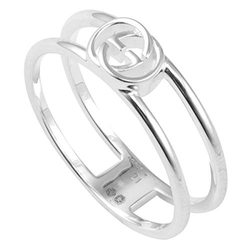 [グッチ] スターリングシルバー インターロッキングG オープン リング 指輪 日本サイズ18号 298036-J8400-8106 19号 シルバー 18号 [並行輸入品]