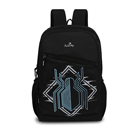Priority Disney Marvel Spiderman Logo 32 litres Black Polyester Stylish School Bag   College Bag   Casual Backpack for Boys & Girls