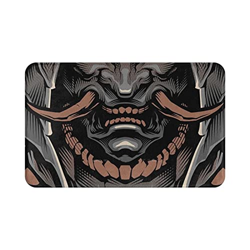 LIAZNGNA Paillasson Soft Foot Pad Room Marchands Tapis Hannya Hannya Art Japan Tattoo (Color : Quality Product, Size : 60cmx90cm)