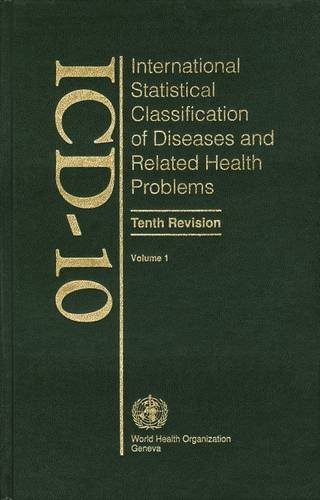 Icd 10: International Statistical Classification of Diseases and Related Health Problemsの詳細を見る