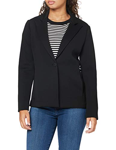 Armani Exchange Womens Scuba Business Casual Blazer, Black, M