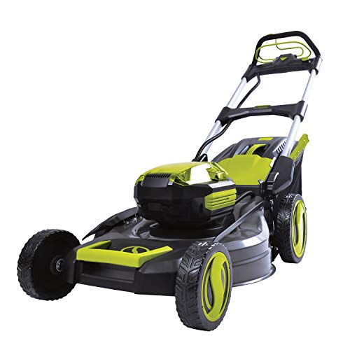 Sun Joe iON100V-21LM-CT 21-Inch 100-Volt Max Lithium-Ion Cordless Self-Propelled Lawn Mower, Tool Only (Battery and Charger Not Included)