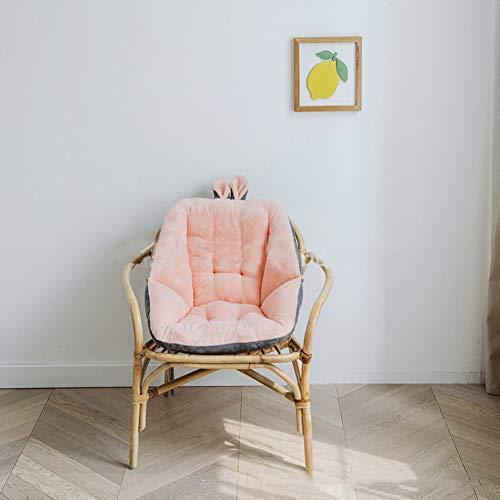 YB&GQ Cartoon Plush Seat Cushioning, Back Lumbar Support Seat Cushioning,soft Semi-enclosed Lazy Sofa For Office Reading Kids Book= Lover Girls Back Pain-blue 45x45cm(18x18inch)