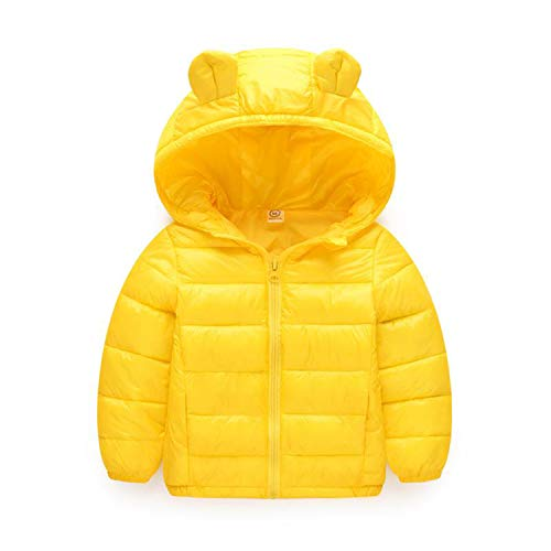 Guy Eugendssg Infant Coat Autumn Winter Baby Jackets for Baby Boys Jacket Kids Warm Outerwear Coats Yellow4 18M