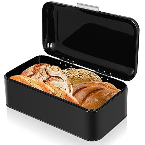 Metal Bread Boxes,Bread Box Storage Bin Kitchen Container Iron Countertop...