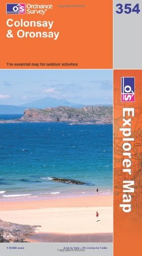 OS Explorer map 354 : Colonsay & Oronsay