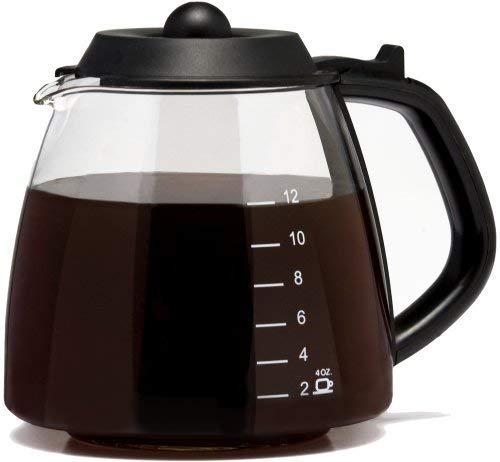 Universal Fit 12 Cup Glass Coffee Carafe Fits Black & Decker, Cuisinart DCC-1200 & DGB-900BC, DeLonghi, Hamilton Beach, Krups, Melitta, Mr. Coffee BVMC-SJX33GT & CG13 & Many More, Compare to Part # GL312
