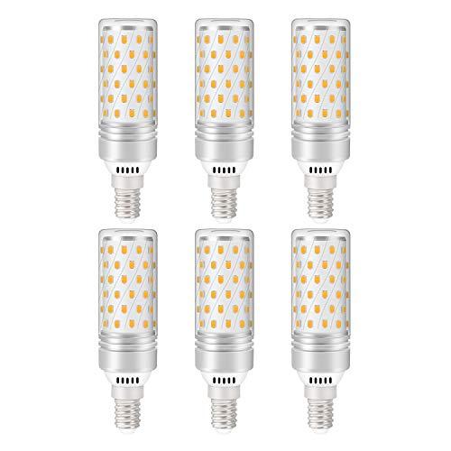 Lampadina LED E14, 10W (equivalenti a 80W), Luce Bianca Fredda 6000K 800lm - Pacco da 6