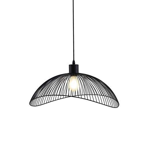 Briloner Leuchten Pendelleuchte Schwarz, Deckenlampe Retro, Deckenleuchte Metall, E27 Ø50,2, Ø 50,2 cm