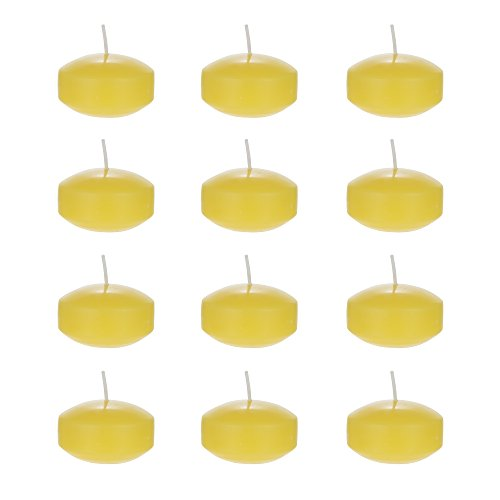 Mega Candles 12 pcs Citronella Floating Disc Candle, Hand Poured Paraffin Wax Candles 2 Inch Diameter, Bug Repellent Candles for Indoor & Outdoor Use, Everyday Candles for Mosquitoes & Insects