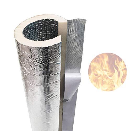 Outech Isolante per Tubature Autoadesivo da 27 Mm A 133 Mm, Doppio Isolamento del Tubo in Foglio di Alluminio, Involucro del Tubo dell'Acqua Ignifugo Antigelo, Spessore: 20 Mm