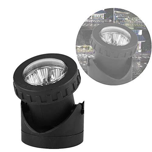 Zonne-onderwaterverlichting 18led, zonne-energie 18LED drievoudige kop onderwaterlamp Spotlight Tuinvijververlichting voor tuinwerf Patiopad Gazon Oprit(wit Licht)