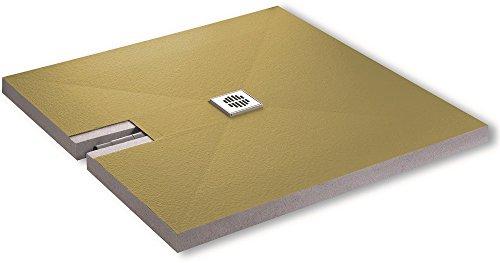 Aqualuxbad Duschboard Superflach 70mm inkl. Ablauf werkseitiger Abdichtung perfekt für die Renovierung 180x90cm