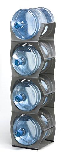 U Water Cooler Bottle Rack (Silver, Four Bottle Rack)