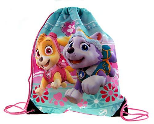 Lora Dora Kids Caracter Drawstring Bag Paw Patrol Girl Pup Power Pink
