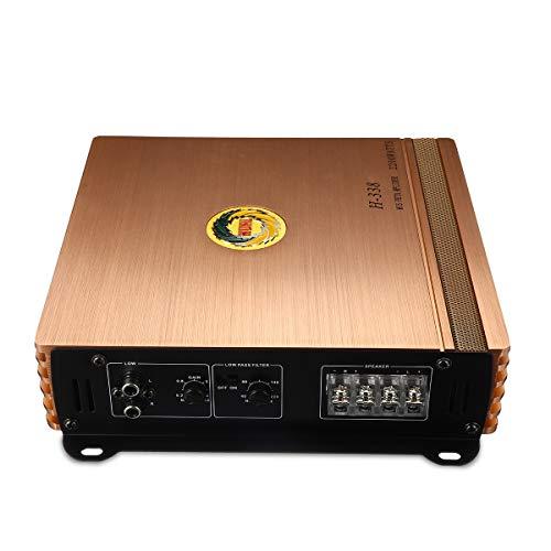 C-Funn versterker vermogen voor auto Hifi 2200 W met 2 kanalen, afgerond 360 graden