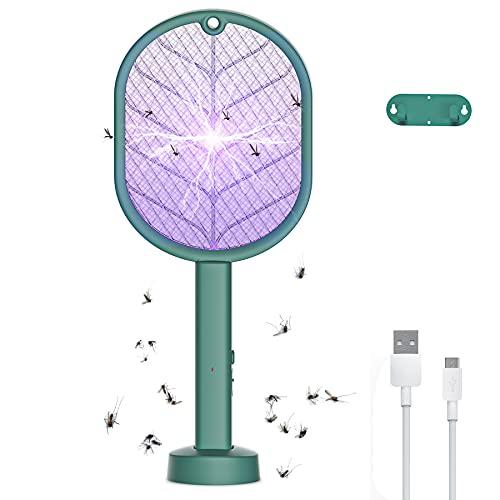 Raqueta Antimosquitos Eléctrico, 2 en 1...