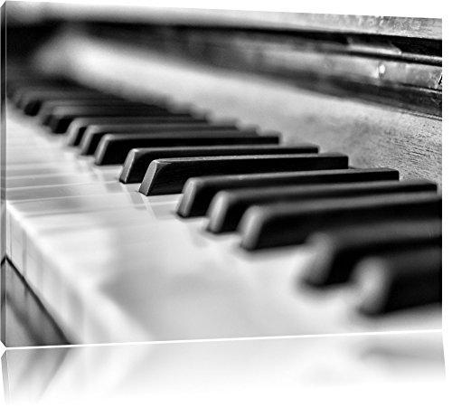 Pixxprint Elegantes Klavier als Leinwandbild | Größe: 120x80 | Wandbild| Kunstdruck | fertig bespannt