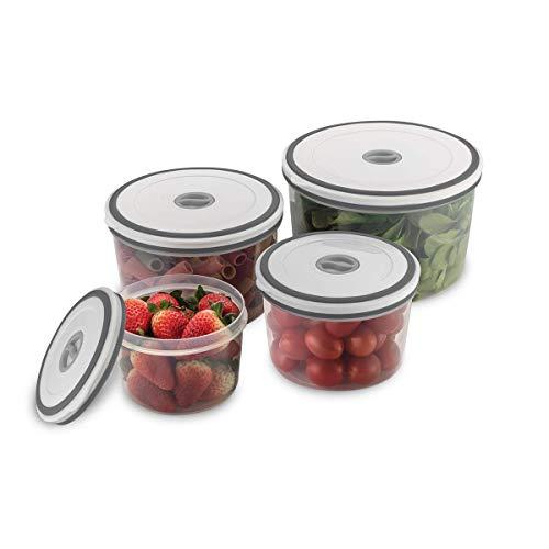 Kit Potes de Plástico Hermético, Redondo , 4 unidades, Electrolux
