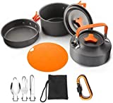 XHLLX Camping Cocination Set ALU, para 2-3 Personas Pan-Pot Tetera Set Board,...