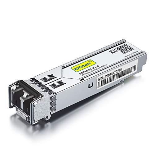 10Gtek® para Ubiquiti UF-MM-1G/ Netgear AGM731F/ D-Link DEM-311GT/ TP-Link TL-SM311LM/ Zyxel SFP-SX-D 1G SFP SX Multimodo, 1000Base-SX Gigabit SFP LC Módulo Transceiver, MMF, 850nm, 550m