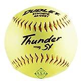 Dudley 4A069YR6 Thunder SY Softball, ASA, 12-in, 6-Pk. - Quantity 1