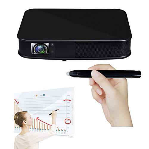 ZXCVASDF Inteligente WiFi HD del Proyector del Tacto, De La Ayuda 1080P 3D 4K, 3000 Lúmenes, 300″ Proyección, Compatible con USB LAN HDMI AUD, Educación Y Aprendizaje Los Niños, Oficina, Cine En Casa