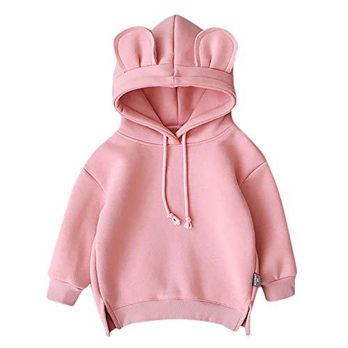Overall für Kinder, Kleinkind Baby Boy Girl Hooded Cartoon 3D Ohr Hoodie Sweatshirt Tops Kleidung