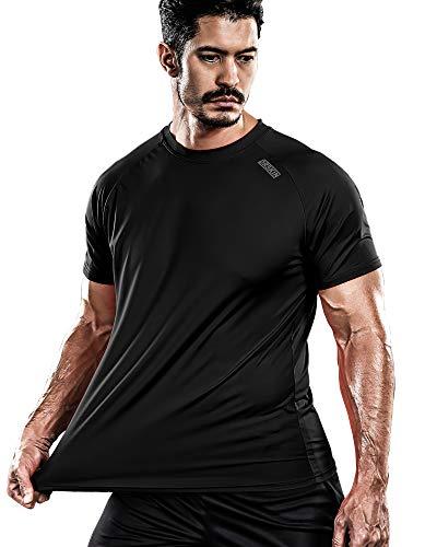 DRSKIN Men's Cool Quick Dry Sun Protection Short Sleeve Rash Guard Swim Sports Tee Shirt UPF 50+ (BSSB02, 2XL)