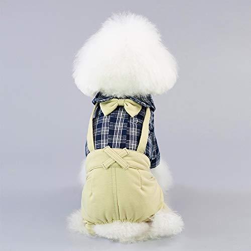 FENXIMEI Kostuum Plaid Pak Chihuahua Kleding Voor Kleine Honden Koele Hond Kleding Hond Jumpsuit Romper Lente Huisdier Jas Bruiloft Huisdier, XL, Blauw